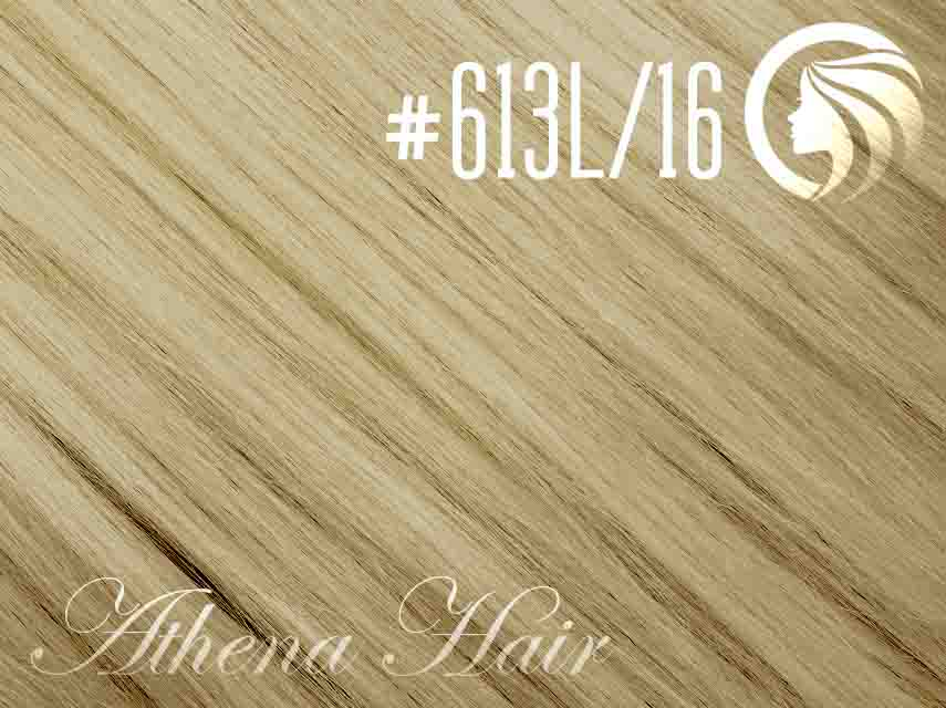 *NEW* #613L/16 Light Bleach Blonde/Ash Blonde - 18″ – 0.5 gram – iTip – Athena (50 strands per packet)