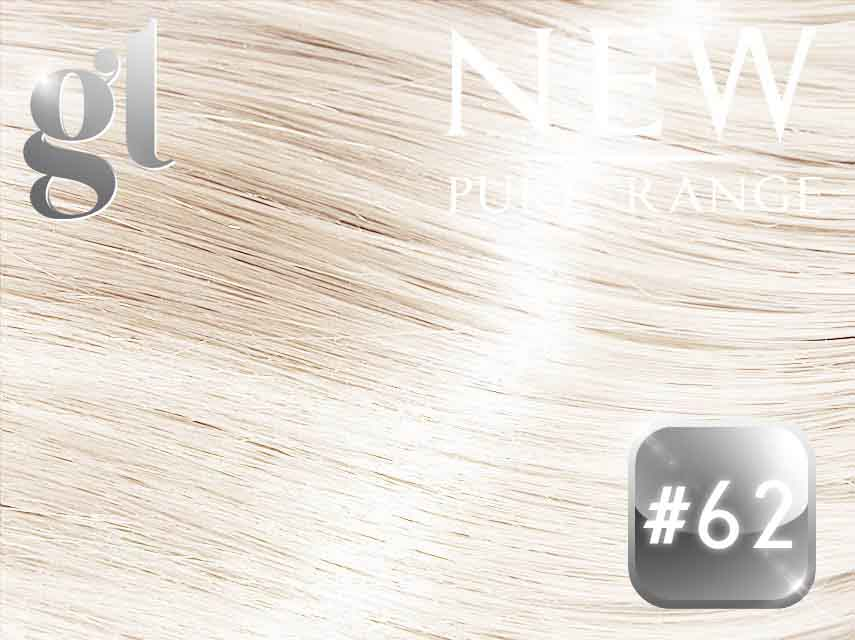 #62 Light Ash Blonde – 20″ - 0.8 gram – iTip - Pure Range (25 Strands)