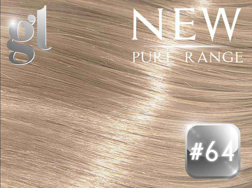 #64 Champagne Blonde – 20″ - 0.8 gram – iTip - Pure Range (25 Strands)