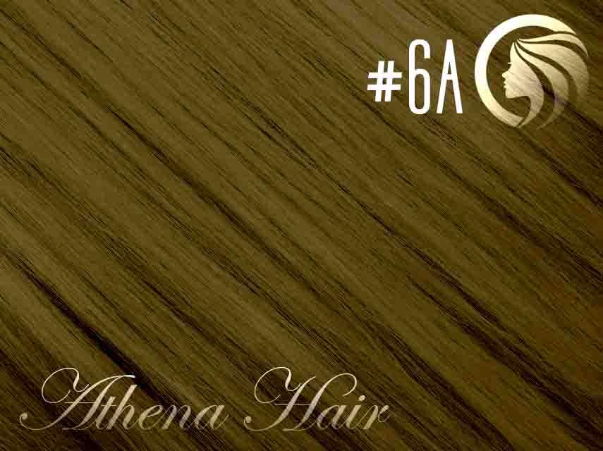 #6A Medium Ash Brown - 22″ – 60 gram – 24 Pieces – Athena Tape Hair