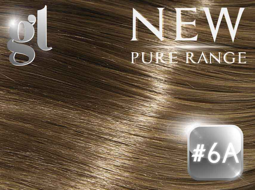#6A Medium Ash Brown - Nano tip – 20″ - 0.8 gram – Pure Range (25 Strands)