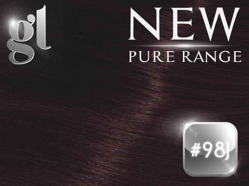 #98J Mahogany - Nano Tip – 20″ - 0.8 gram – Pure Range (25 Strands)