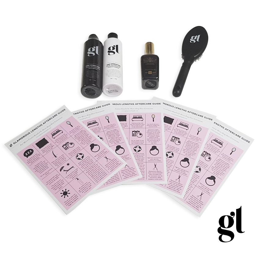 GL AFTERCARE KIT - PRO HAIR EXTENSION USE - INC. LOOP BRUSH