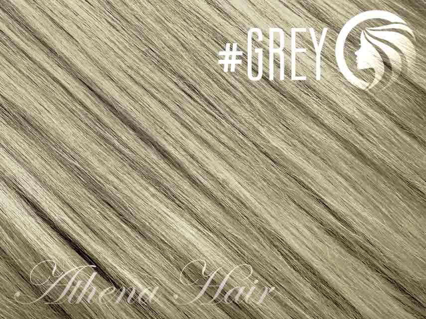 #Grey – 18″ – 0.5 gram – iTip – Athena (50 strands per packet)