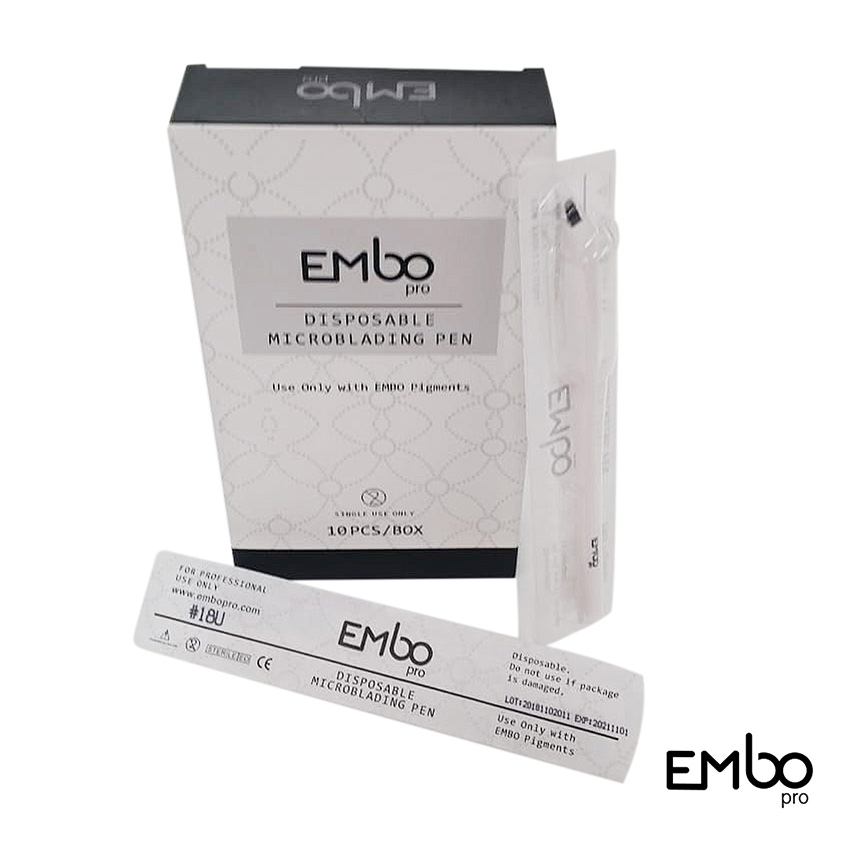 EMBO PRO DISPOSABLE MICROBLADING PENS x 10