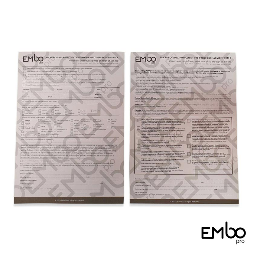 EMBO PRE-PROCEDURE CONSULTATION PAD (A+B)