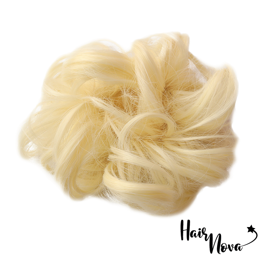 *NEW* #ICE White Blonde - 25g Premium Hair Bun Scrunchie - HAIRNOVA