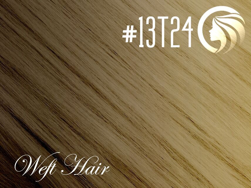 #13T24 Sun Kissed Golden Blonde – 18″ – 120 gram – Athena Weft Ombre