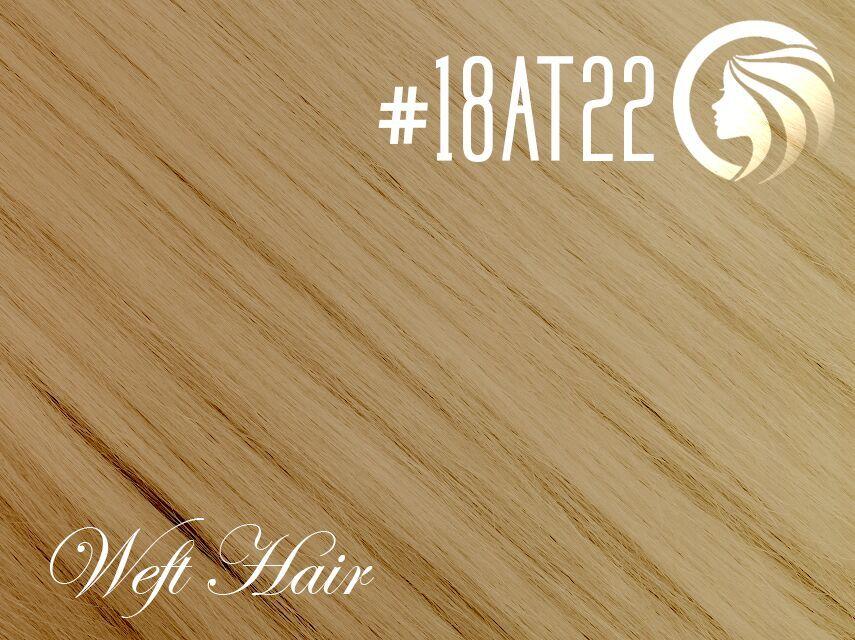 #18AT22 Ash Honey Blonde/Light Neutral Blonde – 18″ – 120 gram – Athena Weft Ombre