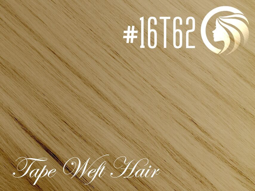 #16T62 Ash Blonde/Light Ash Blonde – 18″ – 60 gram – 24 Pieces – Athena Tape Weft Ombre