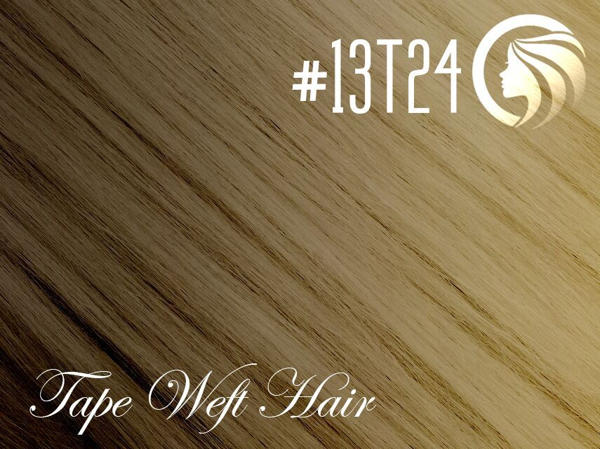#13T24 Sun Kissed Golden Blonde – 18″ – 60 gram – 24 Pieces – Athena Tape Weft Ombre